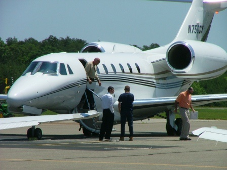 Corporate jet at St. Mary's Airport THE CHESAPEAKE TODAY photo