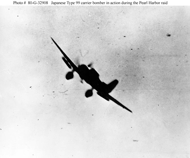 Jap Zero attacking during Pearl Harbor attack