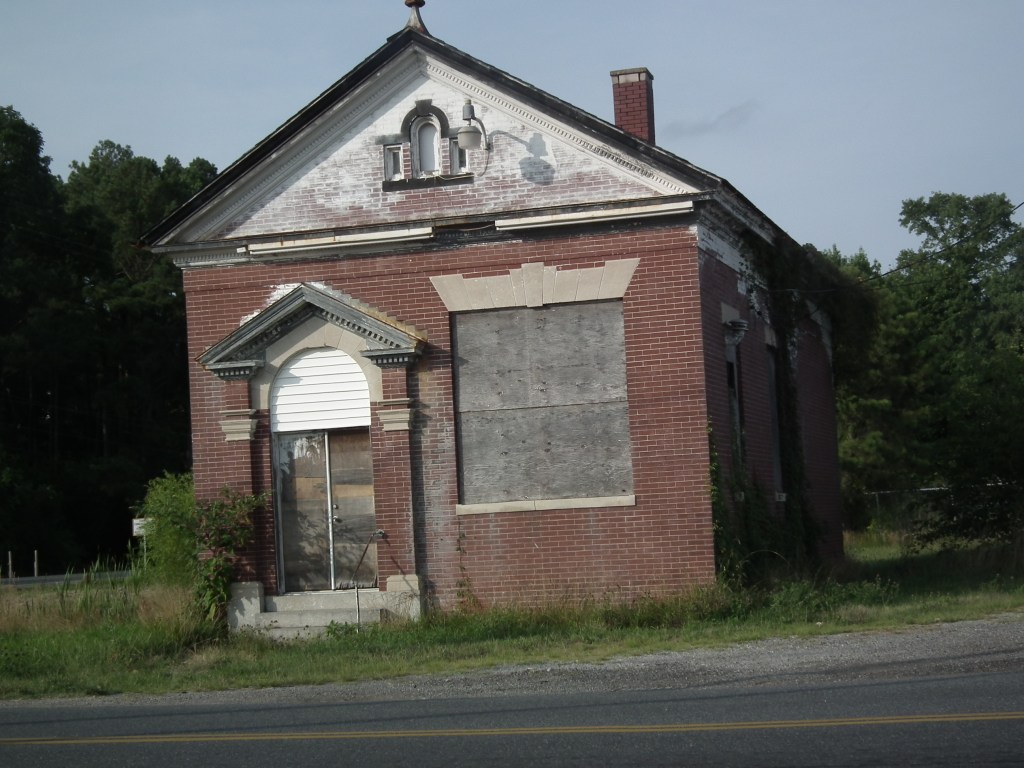 Marion Station, Maryland. This old building is one of a few structures that mark a once busy village on the railroad from Crisfield to the main line and markets during the heydays of the oyster.  THE CHESAPEAKE TODAY photo