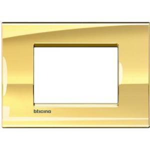 Bticino Living Light Placca 3P Oro Freddo Lna4803Oa