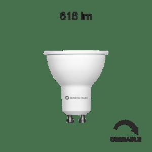 Lampada dicroica LED HOOK 6W GU10 luce calda 3000K dimm BENEITO