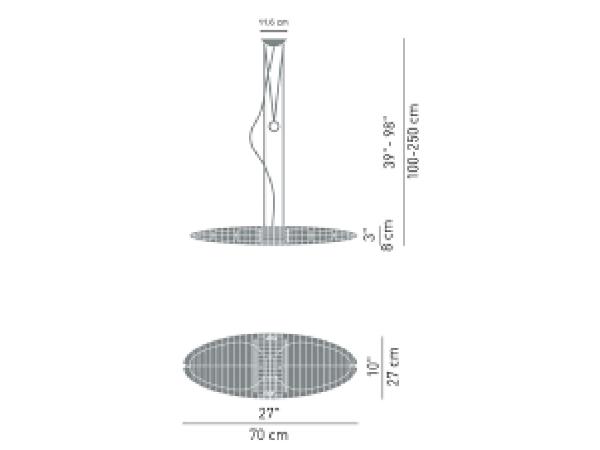 Lampadario TITANIA 250W E27 1D1700000020 LUCEPLAN