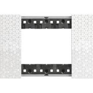 Bticino Living Now Placca tre moduli effetto pixel KA4803MW