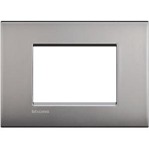 Bticino Living Light Air Placca 3P Nichel Satinato Lnc4803Nk
