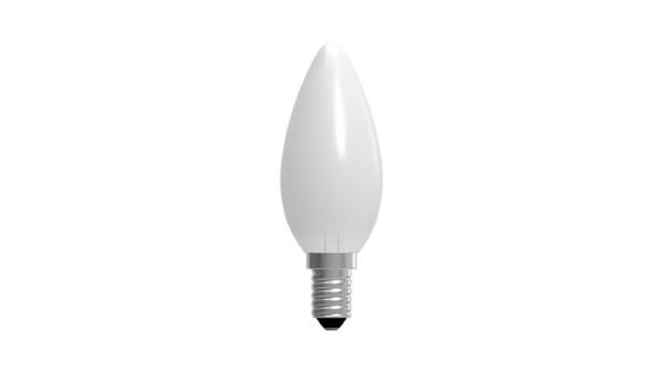 Lampadina LED oliva opale 6W E14 470Im IMPERIA