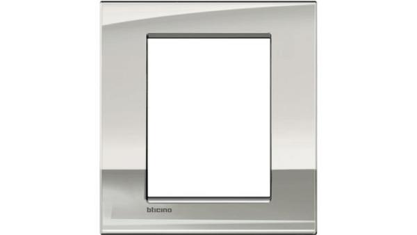 Placca 3+3M palladio lucido LNC4826PL BTICINO