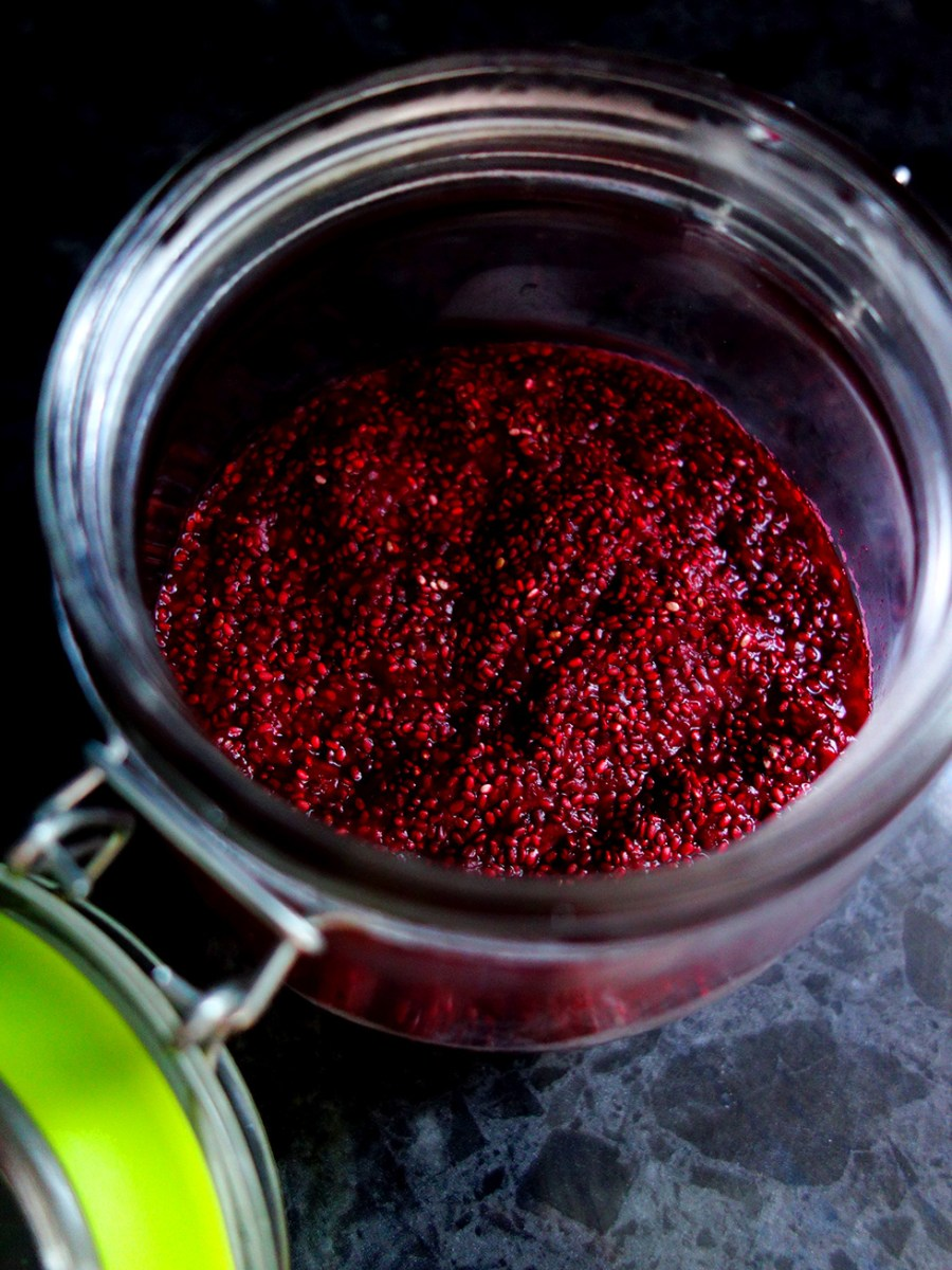 Easy 3 Ingredient Paleo Raspberry Chia Jam