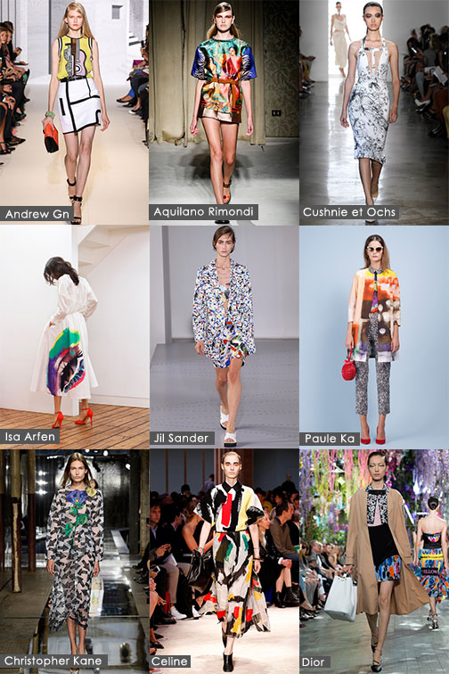 Spring 2014 trend - Art Pop, Spring Summer 2014 trend, New Trends, Fashion Trends, New Fashion Trends, Cushnie et Ochs, Jil Sander, Paule Ka, Christoper Kane, Celine, Fashion Designers, Fashion Trend Report, Fashion Trend Analysis