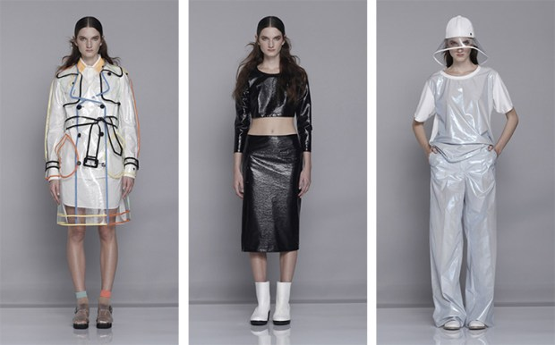 Wanda Nylon Spring Summer 2014 Monsoon Collection, Rain Gear, Rain Apparel, Water Repellent apparel, Water Repellent Garments, Rain Coats, Luxury Rain Coats, PVC, PVC clothes, Fashion Blogger, Fashion blog, New York Fashion Blog, Water Repellent Pants