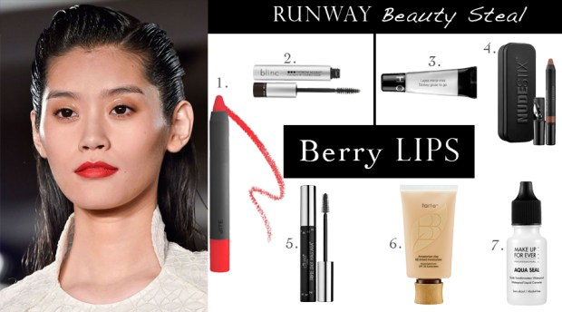 Runway Beauty Steal - Berry Lips, Beauty trend, beauty trends, spring beauty trends, beauty products, it beauty products, runway trend, Free beauty products, Beauty Giveaways, get free beauty products, best beauty products, beauty products online, top beauty products, Sephora makeup, Sephora cosmetics, beauty tips, beauty tips and tricks, beauty tips for women, best beauty tips, at home beauty tips, beauty tips for her, great beauty tips, Blinc, Blinc Eyebrow Mousse, Blinc Beauty Products, Bite Beauty Lipstick, Glossy Gloss To Go, Nudestix, Nudestix beauty products, Ciate, Ciate Triple Shot mascara, Ciate Beatuy Products, Tarte, Tarte Beauty Products, Tarte Amazonian Clay, Makeup Forever, Makeup forever Beauty Products, Makeup Forever Aqua Seal Primer, Summer beauty tips, Spring beauty tips, Asian beauty secrets, makeup tutorials, eye makeup tutorials, eye makeup tutorial, best makeup tutorial, makeup tutorial for brown eyes, Asian makeup tutorial, makeup tutorials for beginners, korean makeup tutorial, asian eye makeup tutorial, Asian models, Bite Beauty, Ming Xi