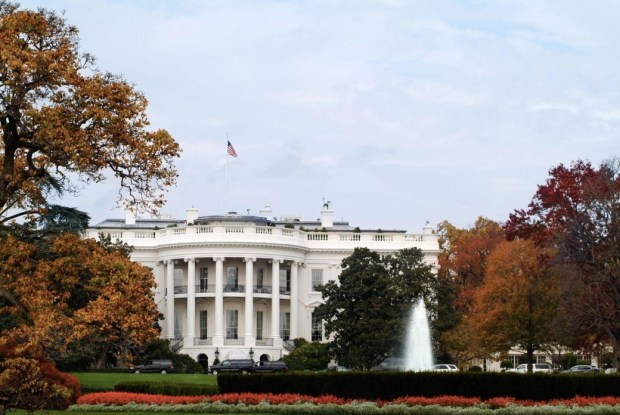 White HOuse in the Fall