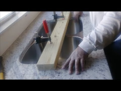 how to attach an undermount sink on a