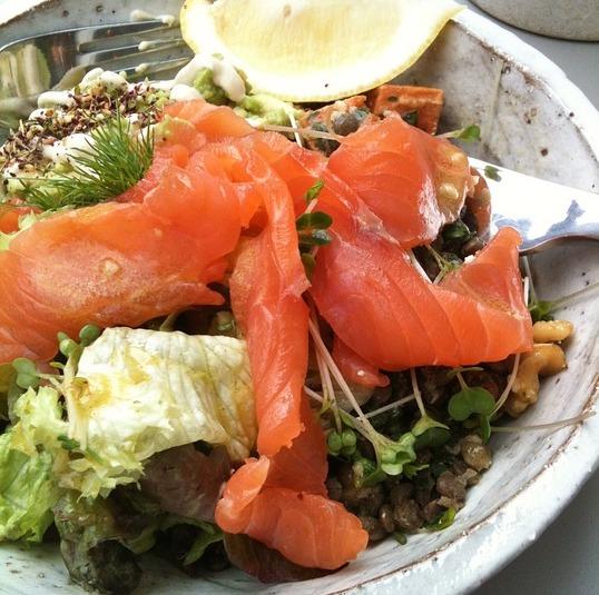Salmon and Avocado Salad with Marinade Sauce recipe