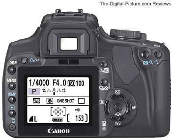 Canon EOS 400D Digital Rebel XTi Back View