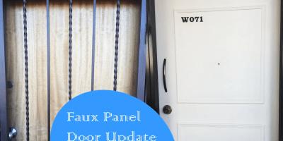 faux panel door