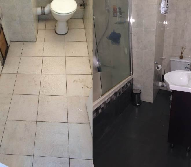 tiling over tiles before after