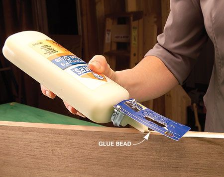 credit card glue spreader