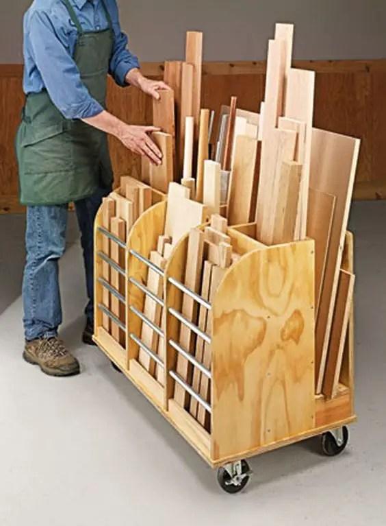 lumber cutoff bin