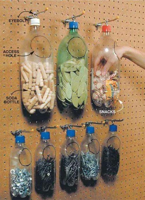 pegboard bottle holders