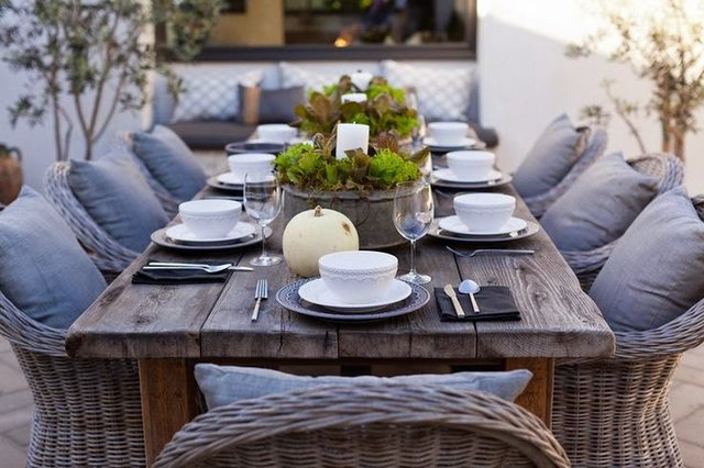 stunning wicker dining set