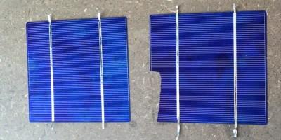 broken solar cells