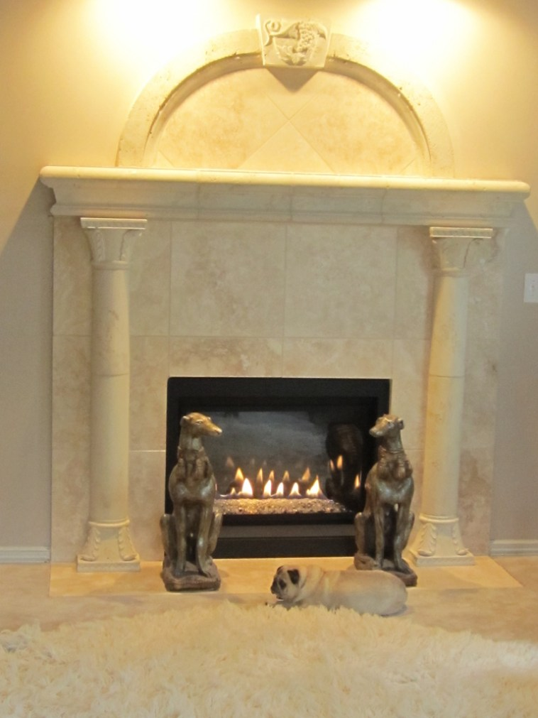 replaced gas fireplace