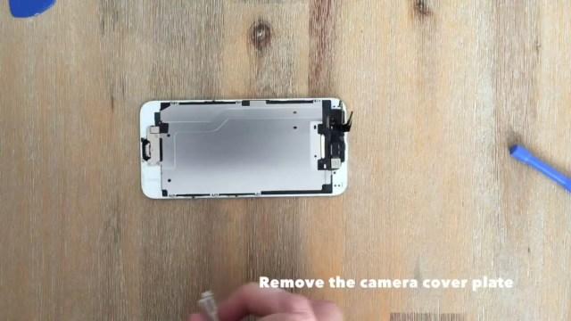 remove the camera cover plate
