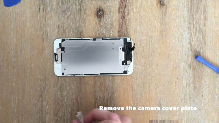 remove the camera cover plate