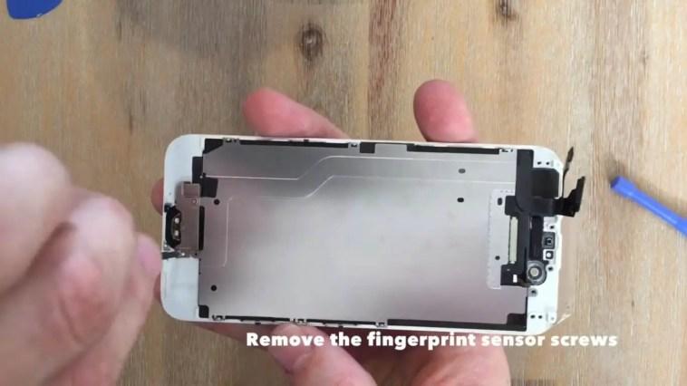 remove the fingerprint sensor screws