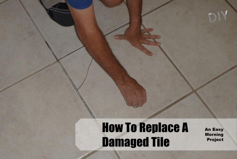 replace a damaged tile pinterest
