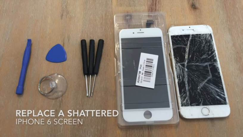 replace a shattered or broken iphone screen