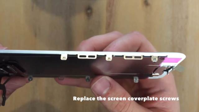 replace the screen coverplate screws