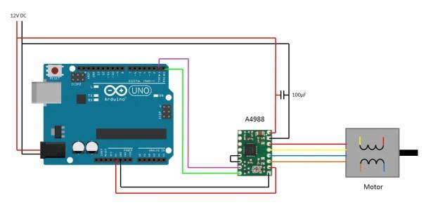 arduino stepper motor circuit diagram
