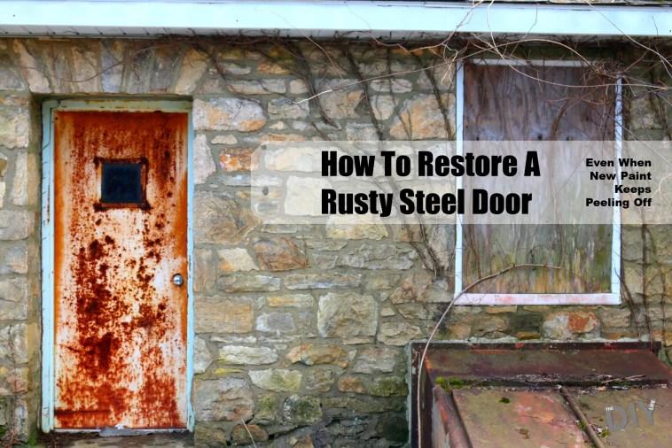 restore a rusty steel door