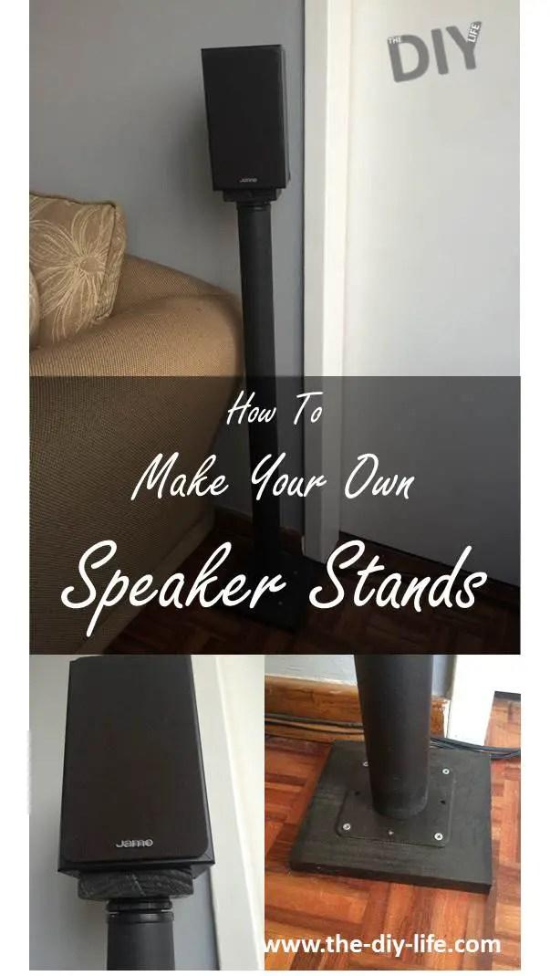 make your own speaker stands pinterest