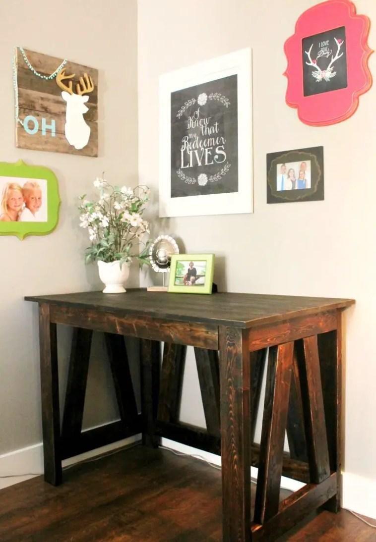 2x4 homemade desk