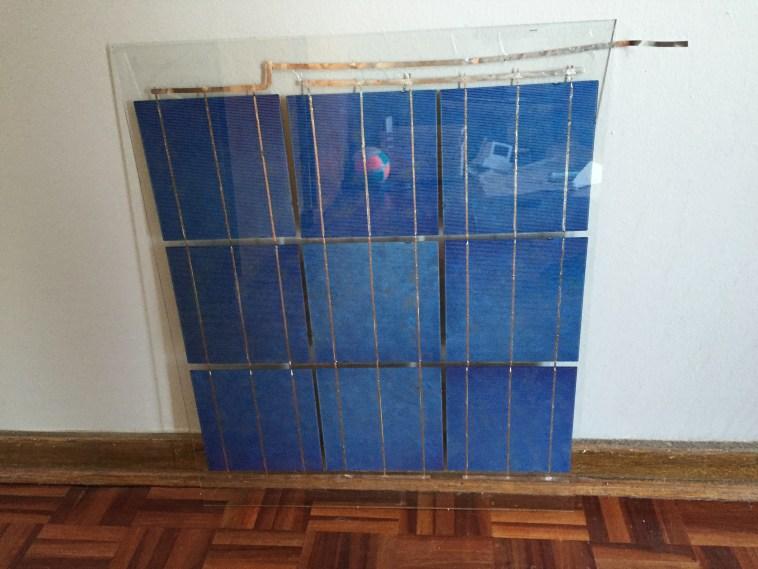 glass frame diy solar panel