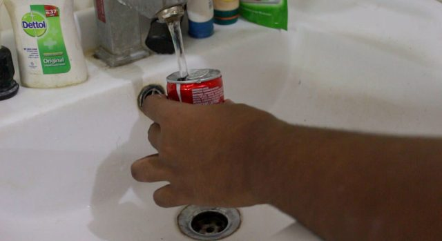 clean out the soda can