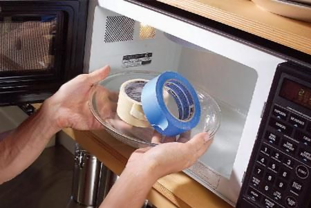 microwave your masking tape