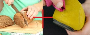 bread removes stains from suede shoes
