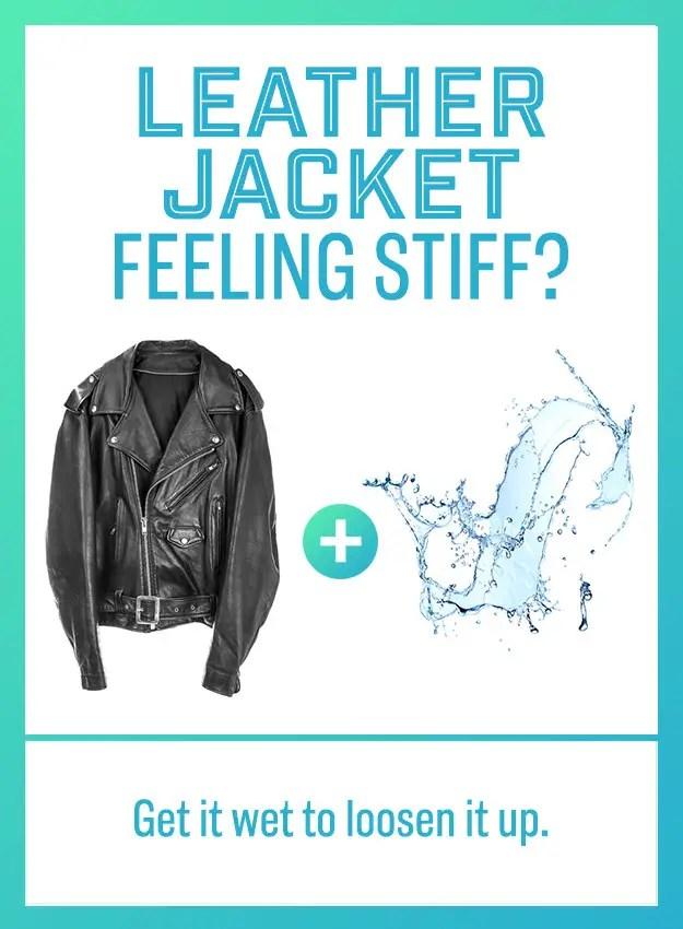 stiff leather jacket