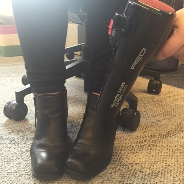 stretch out a tight pair of boots