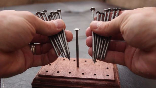 balancing nails puzzle