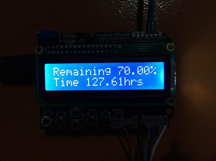 Battery Capacity And Time Remaining