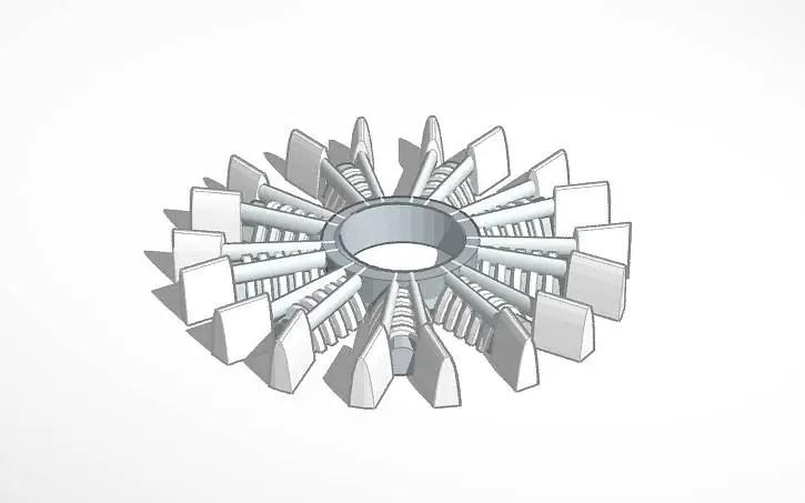 TinkerCAD Radial Engine Fidget Spinner