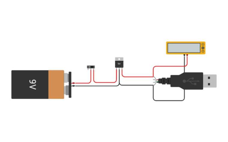 emergency usb charger circuit diagram