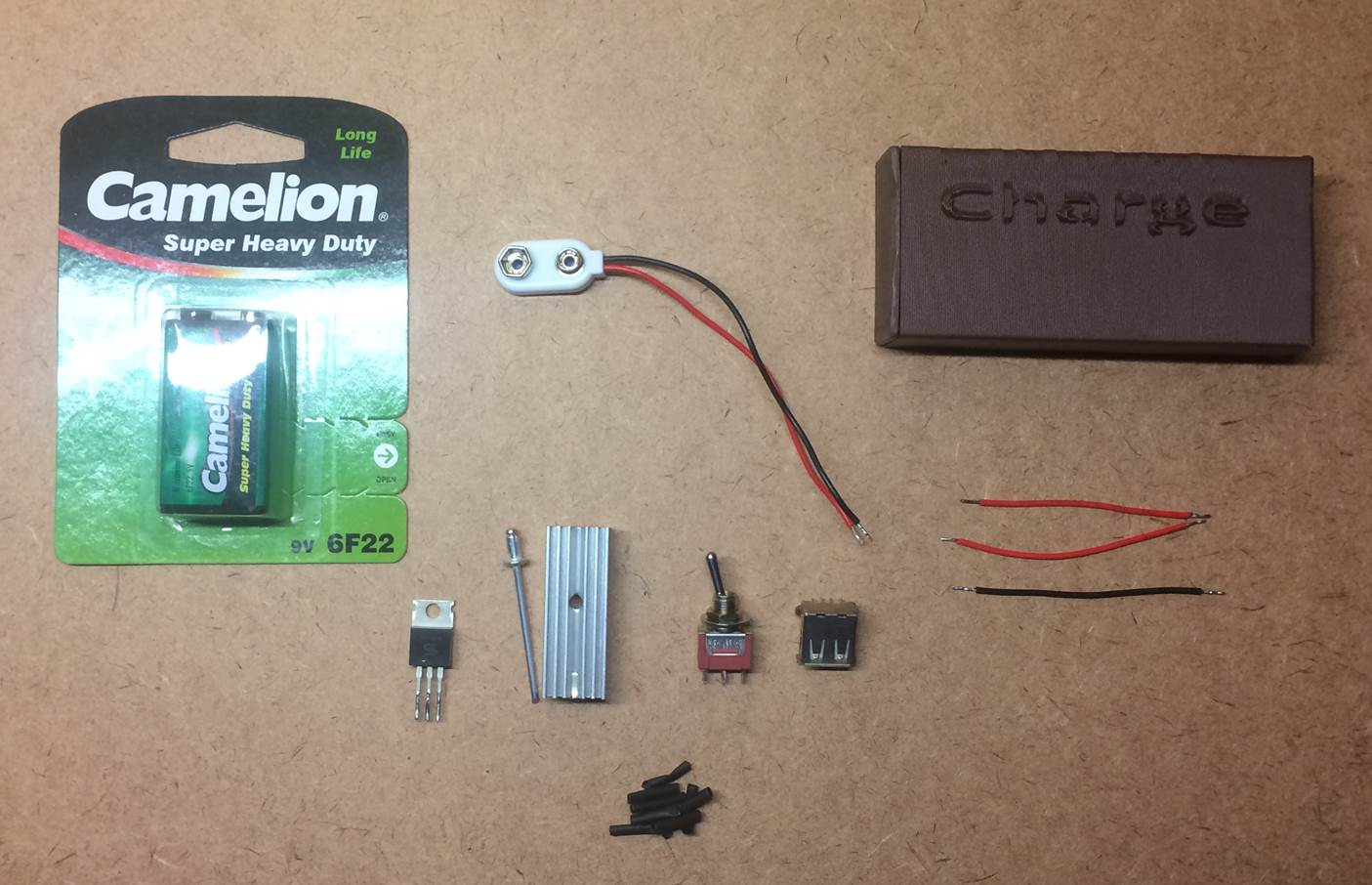 Make A Super Easy 9v Emergency Usb Charger The Diy Life Simple 9volt Positive Voltage Regulator Components Required