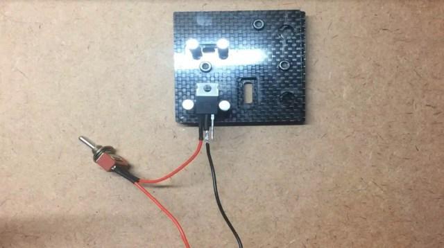 solder battery clip to regulator