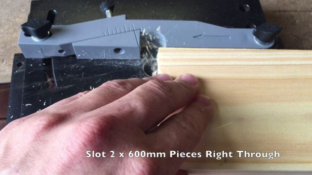 Cut The Slot The Full Length Of The 600mm Planks