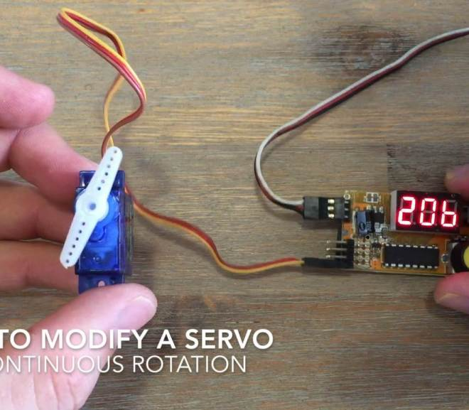 Modify A Servo For Continuous Rotation